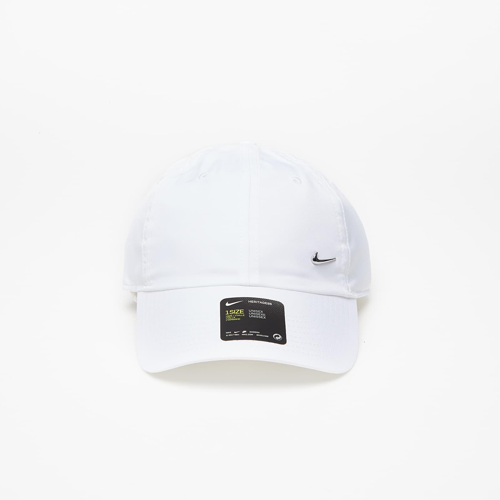 Kšiltovky Nike Metal Swoosh H86 Adjustable Cap White