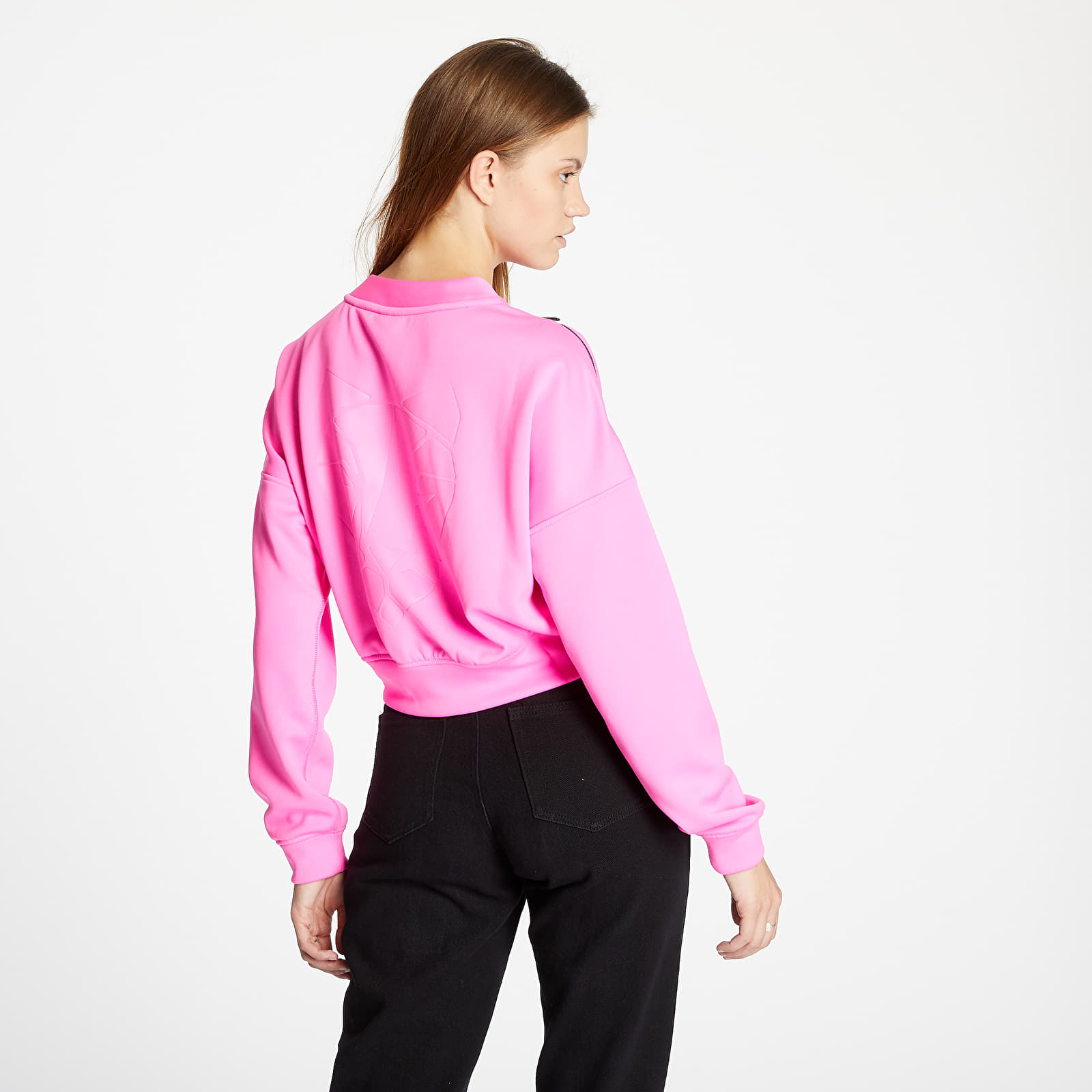 Hanorace și bluze Puma Train Zip Crew Sweatshirt Luminous Pink