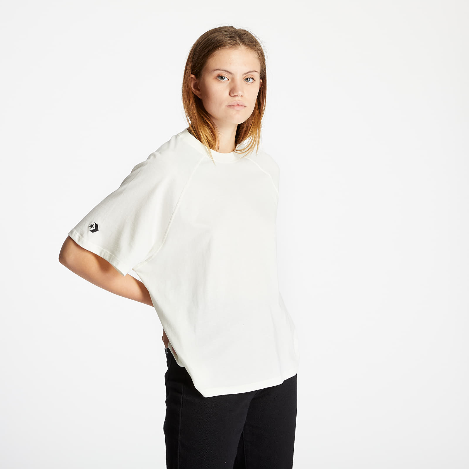 T-shirts Converse Shapes Box Cropped Tee Off White