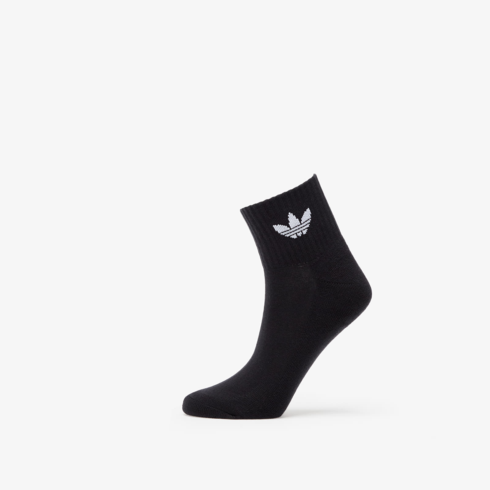adidas 3 Pair Mid Ankle Socks Black EUR XL