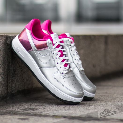 Nike Wmns Air Force 1 07 PRM QS Metallic SilverFireberry | Footshop