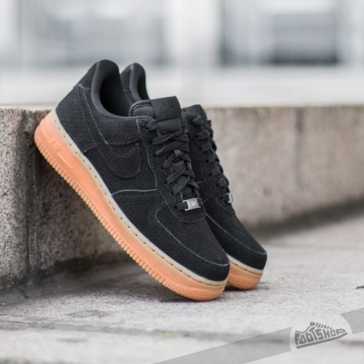 Nike Wmns Air Force 1 ´07 Suede Black Black | Footshop