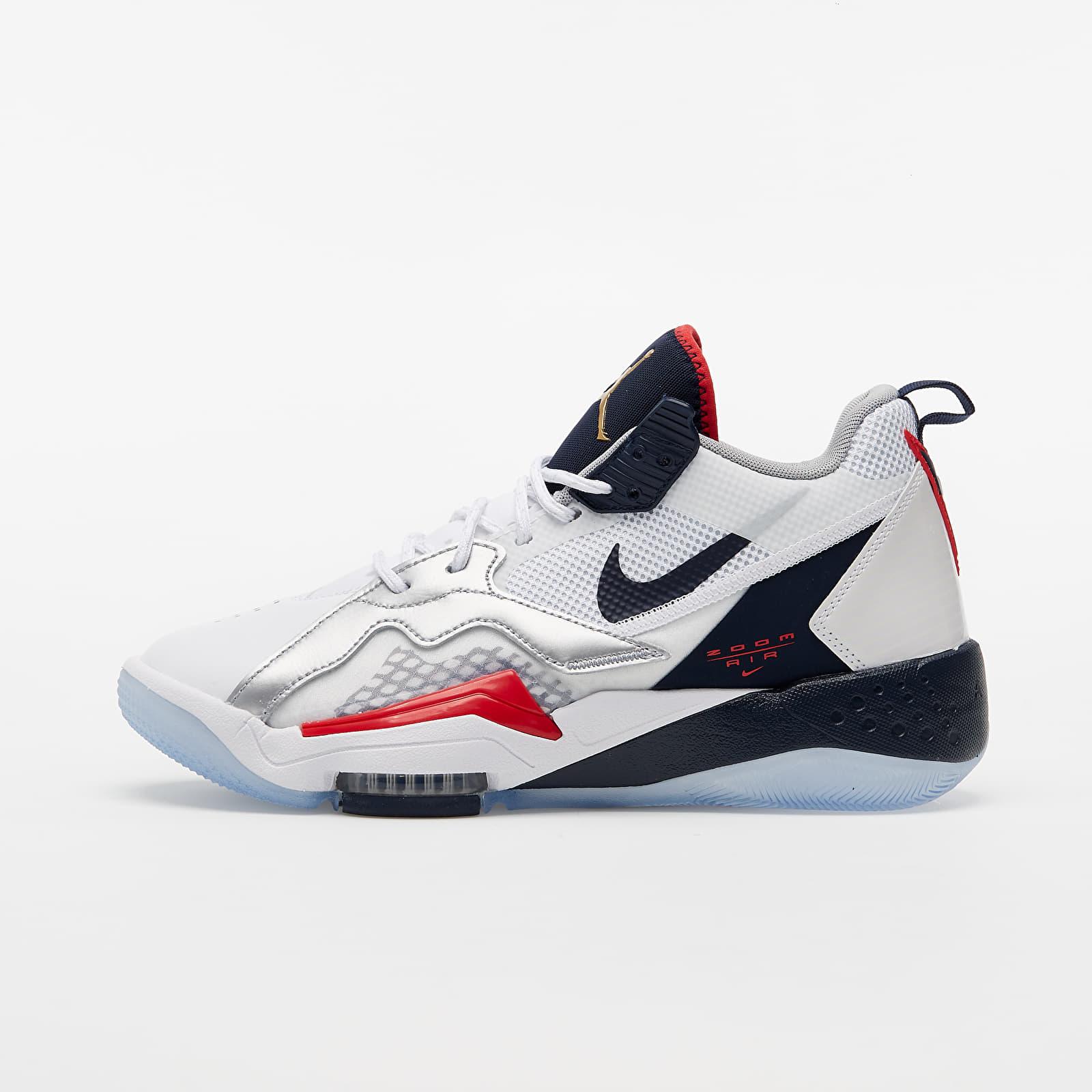 Pánské tenisky a boty Jordan Zoom '92 White/ Obsidian-True Red-Metallic Silver