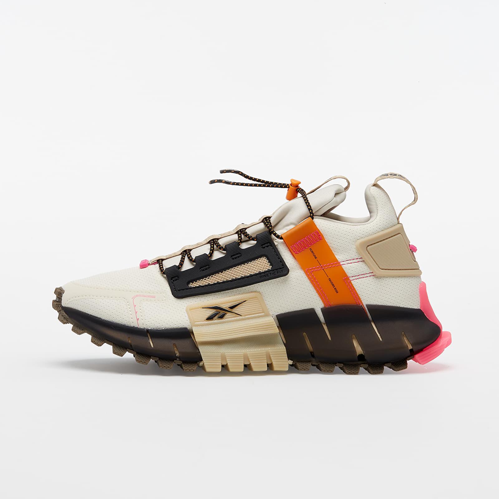 Men's shoes Reebok Zig Kinetica Edge Alabaster/ High Vivid Orange/ Pro Pink