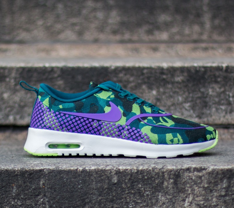 Nike Wmns Air Max Thea Jacquard Premium Teal Vivid Purple Ghost Green Sail