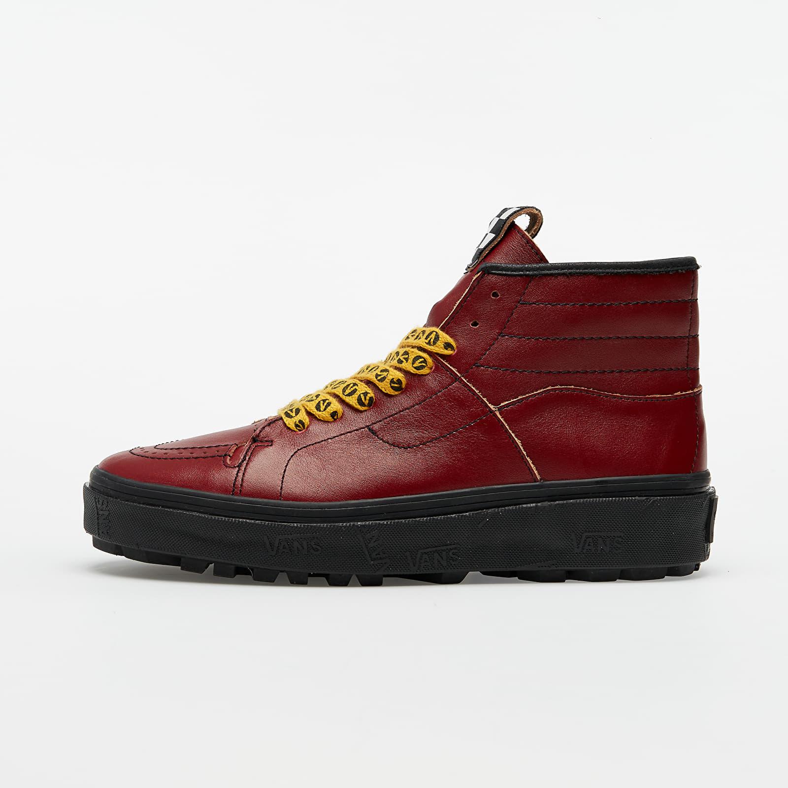 Männer Vans Vans x Taka Hayashi Sk8-Boot LX (Leather) Red Dahlia/ Black