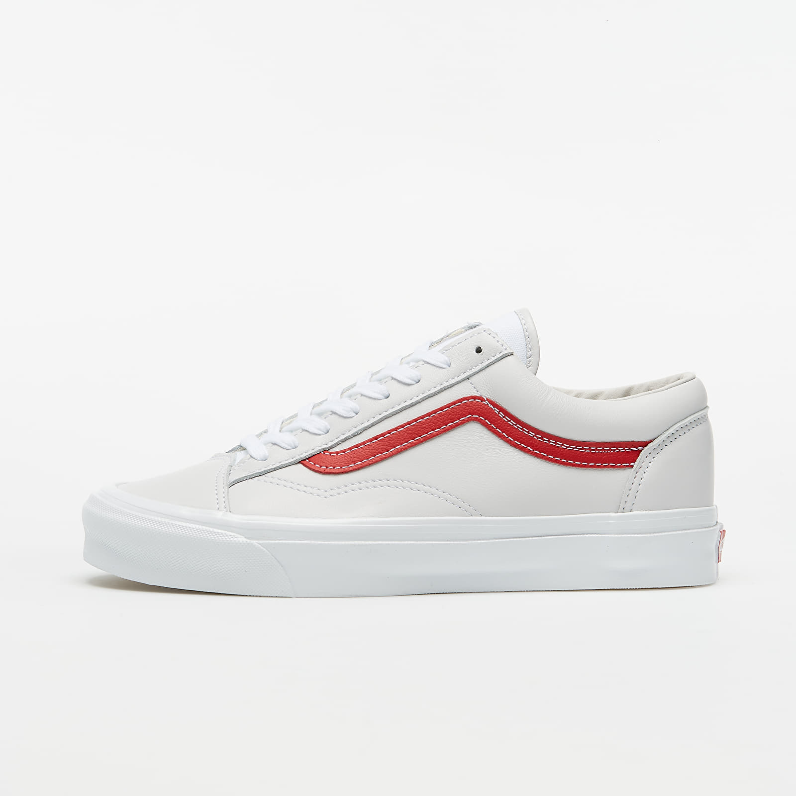 Chaussures et baskets homme Vans OG Style 36 LX (Leather) Red/ True White