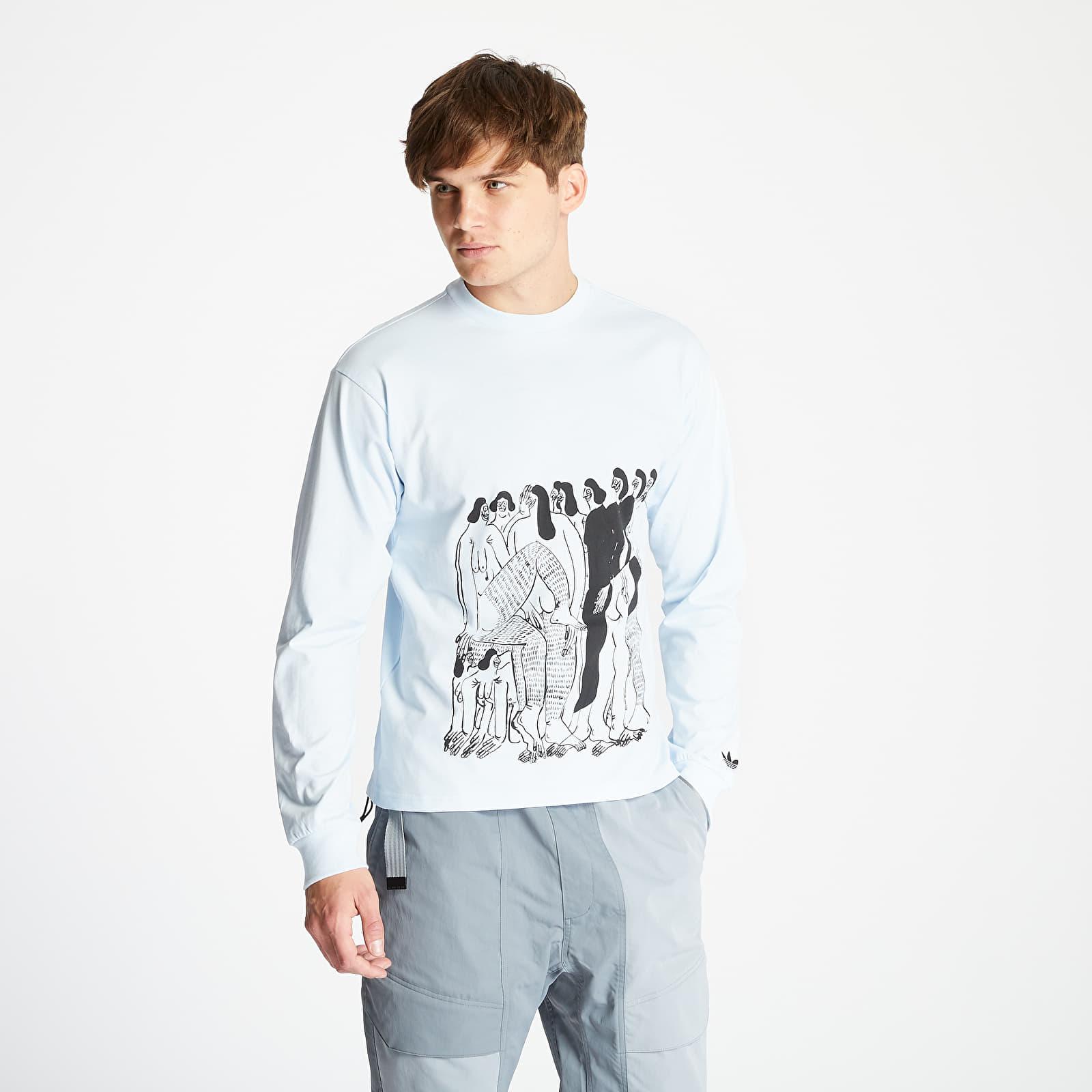 T-shirts adidas x Unity LS TEE Sky Tint/ Black