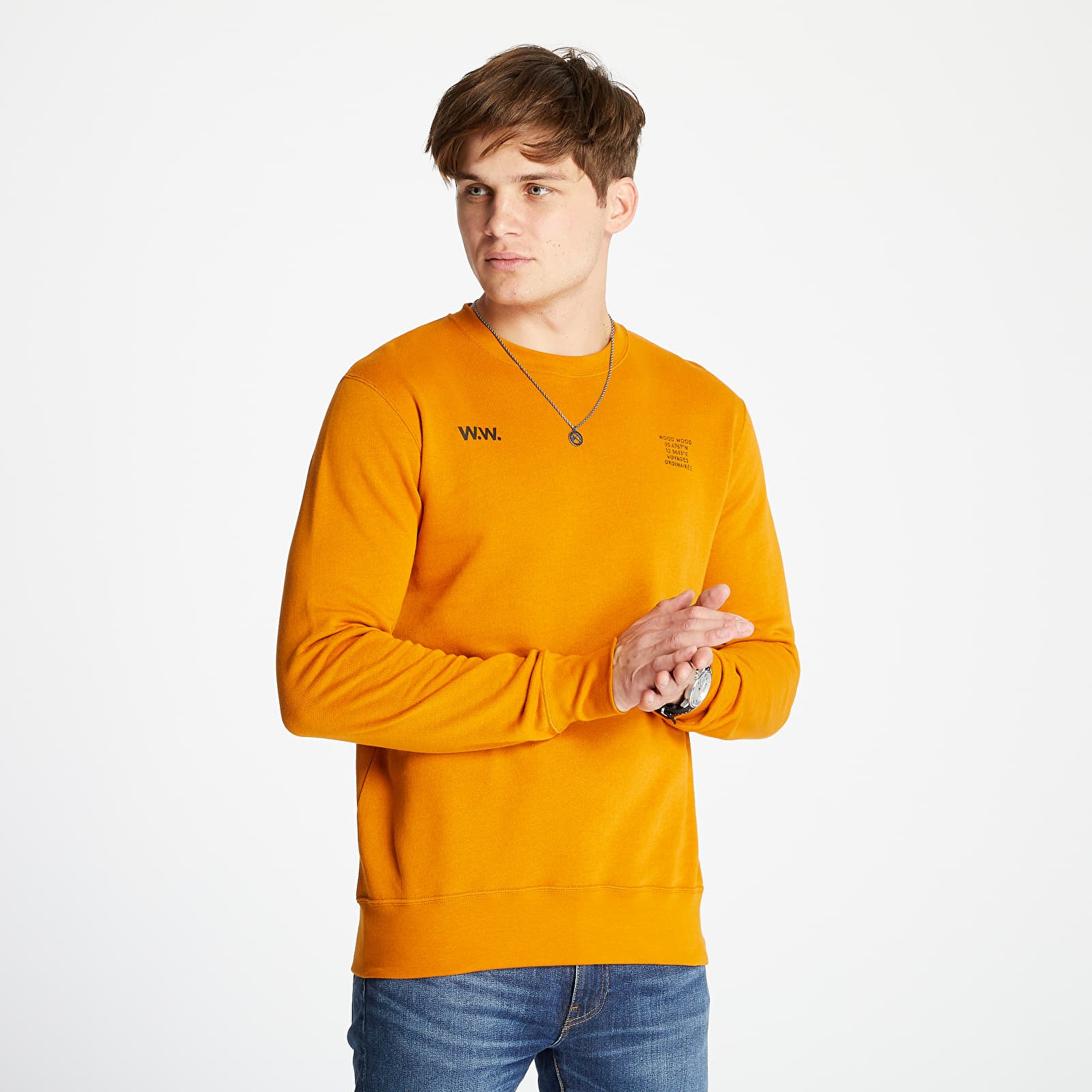 Sudaderas y suéteres WOOD WOOD Hugh Sweatshirt Orange