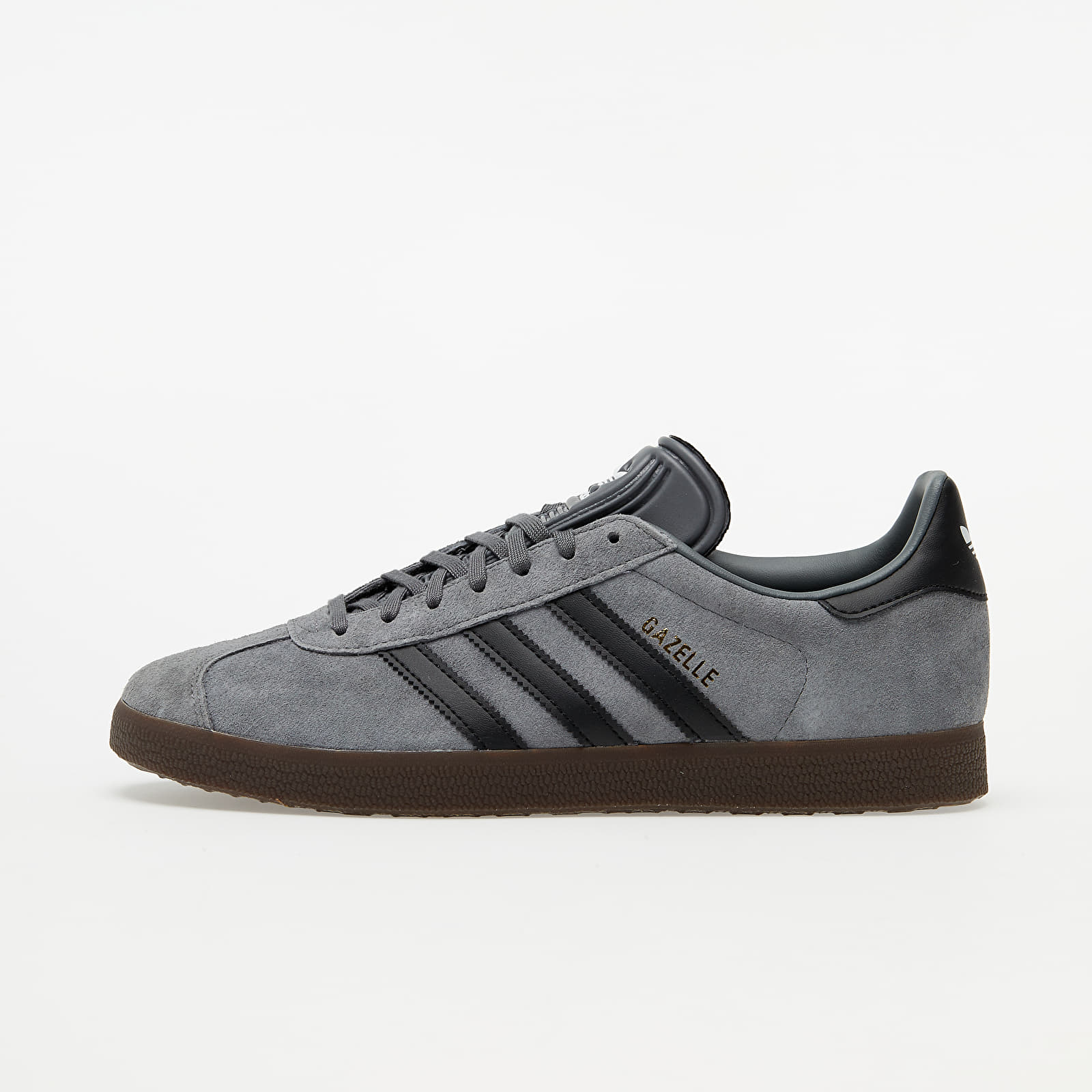 adidas Gazelle Grey Four/ Core Black/ Gum 5 EUR 45 1/3