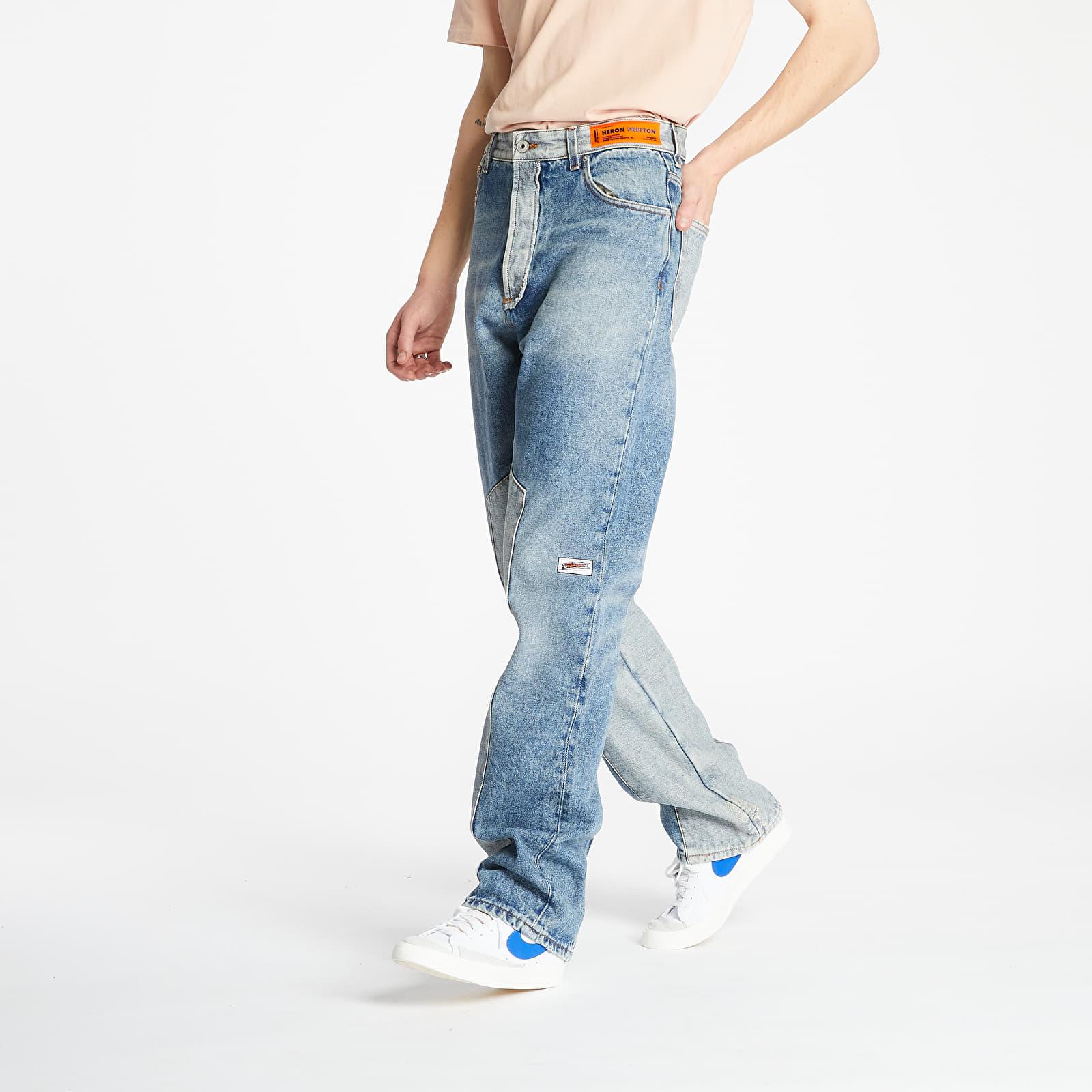 Pantaloni și blugi HERON PRESTON Uniform Eco Wash Jeans Vintage Denim