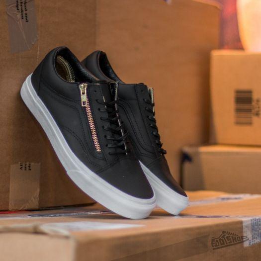 Vans Old Skool Zip Leather Black/ Gold   Footshop
