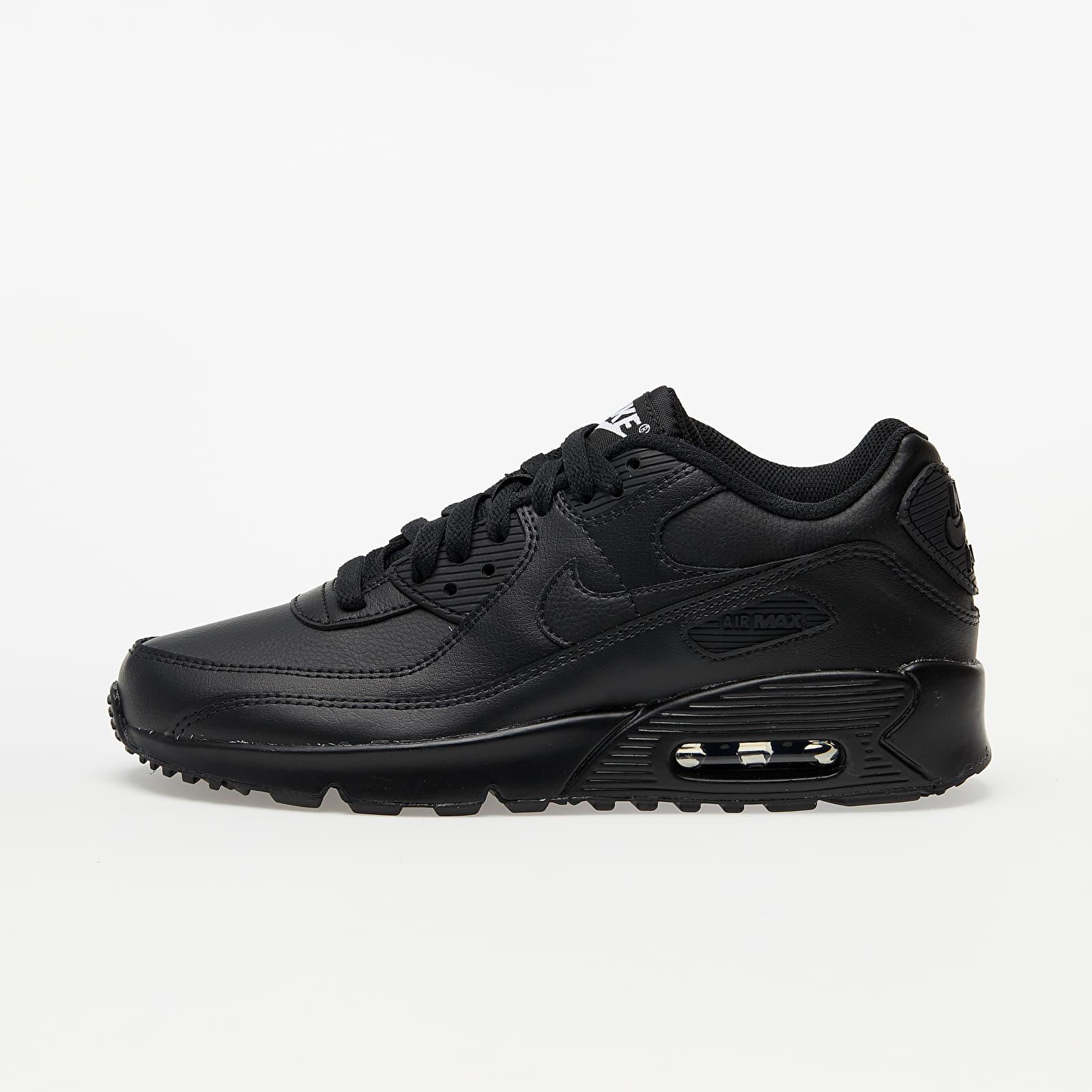 Nike Air Max 90 Leather (GS) Black/ Black-Black-White EUR 40