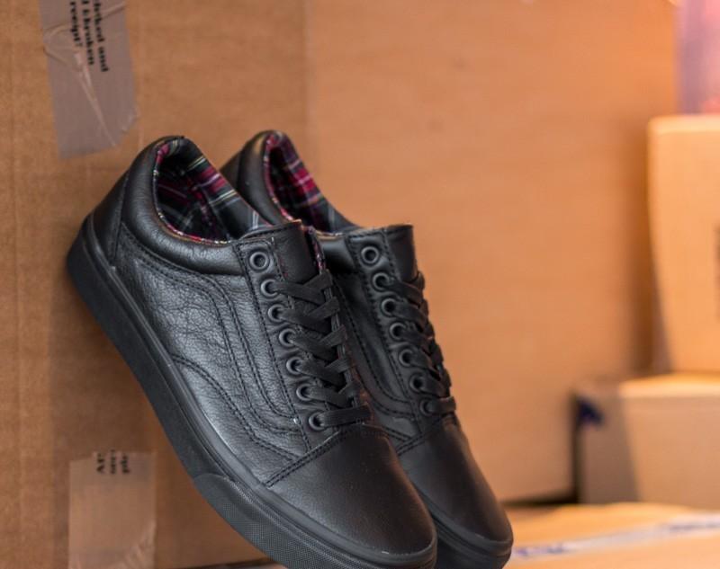 Vans Old Skool Leather Black/ Plaid EUR 39
