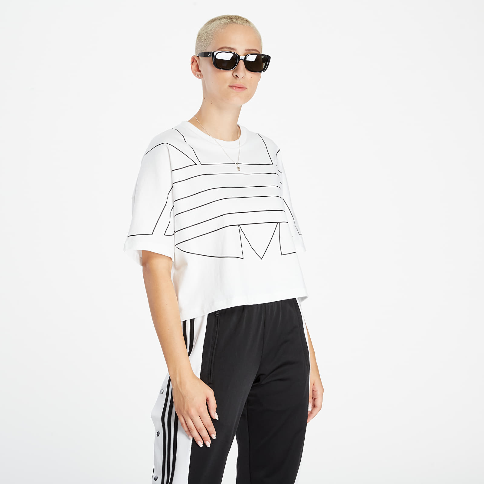 adidas Large Logo Tee White/ Black M/40