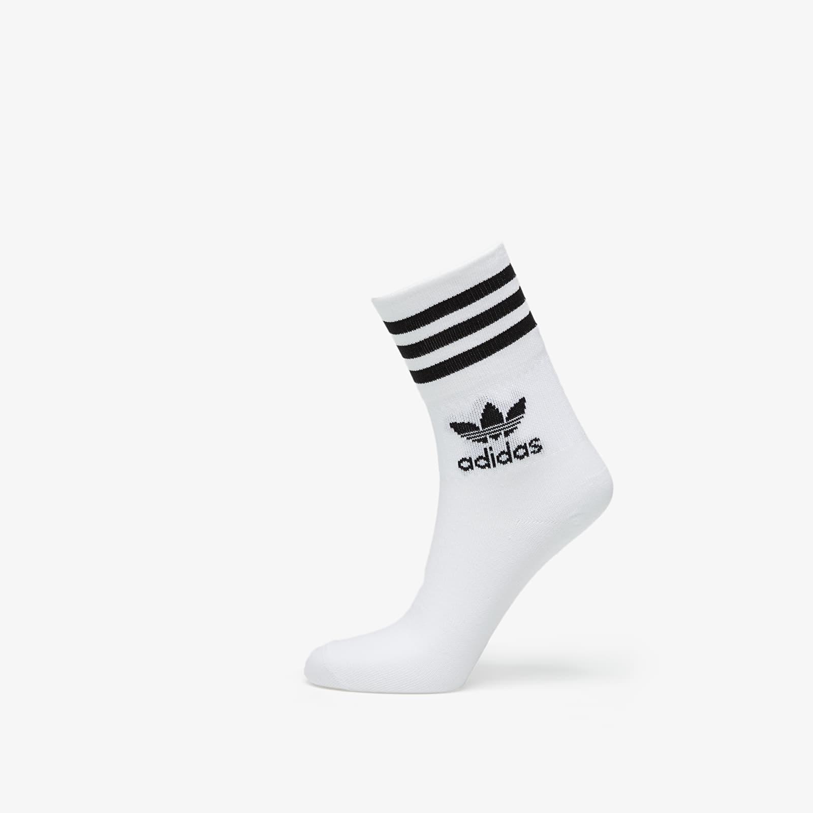 Levně adidas Mid Cut Crew Socks (3-pack) White/ Black