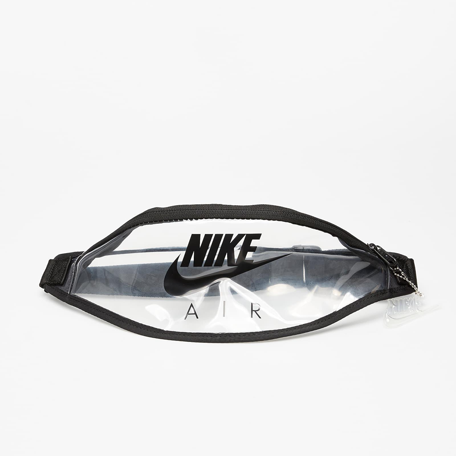 Övtáska Nike Heritage Fanny Pack Clear/ Black/ Black