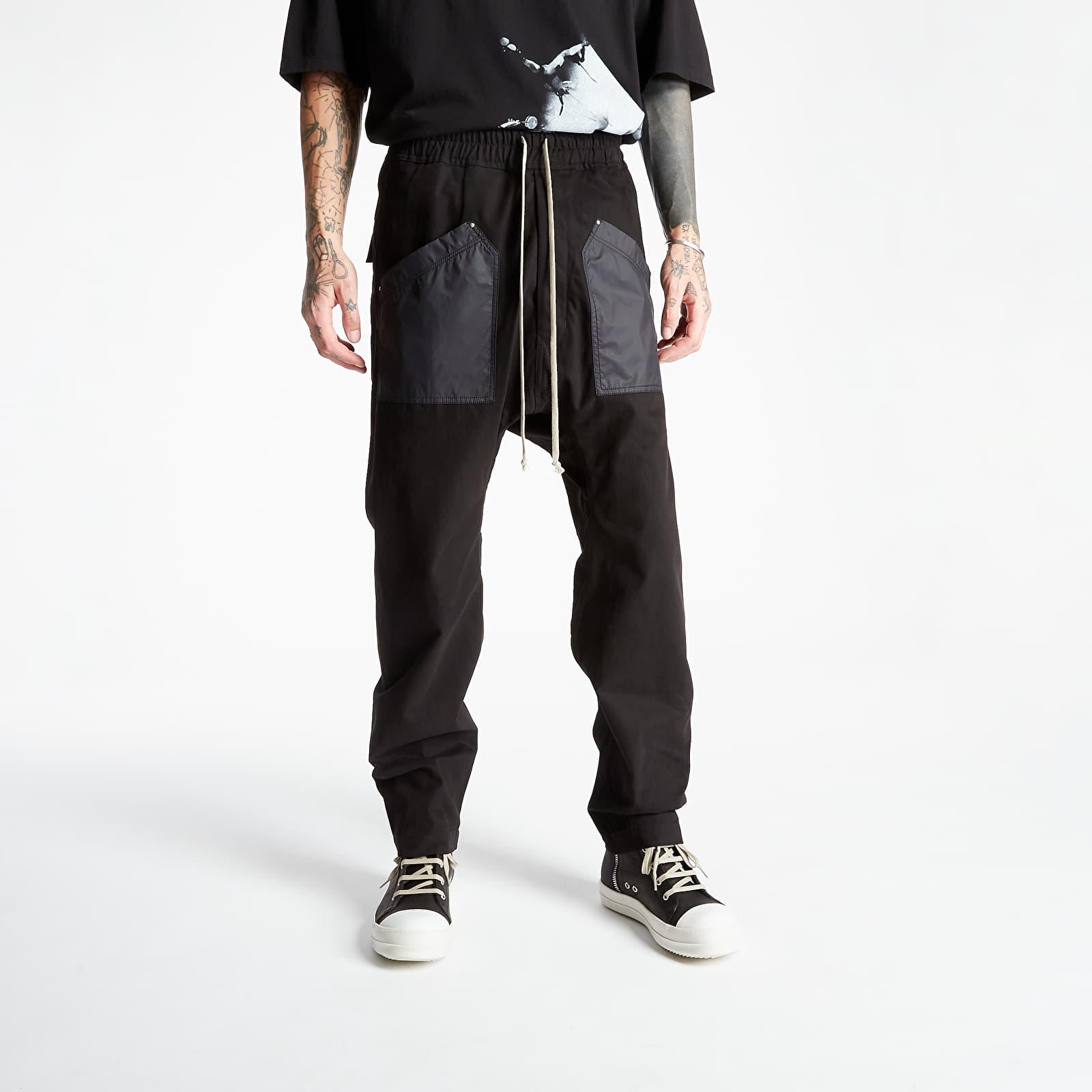 Nadrágok Rick Owens Cargo Drawstring Long Pants Black