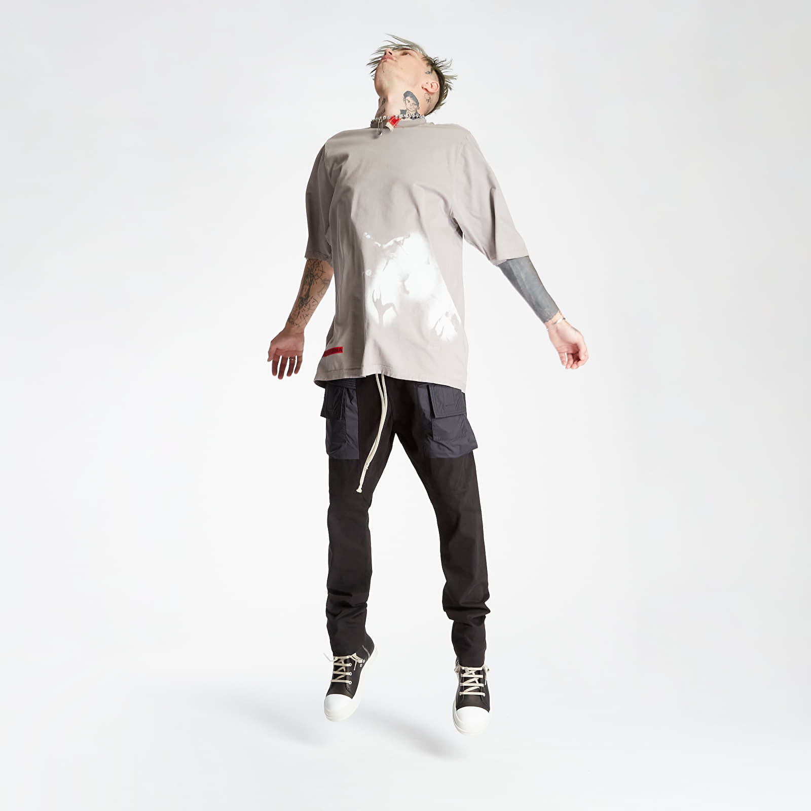 Rick Owens DRKSHDW Creatch Cargo Drawstring Pants Black XS