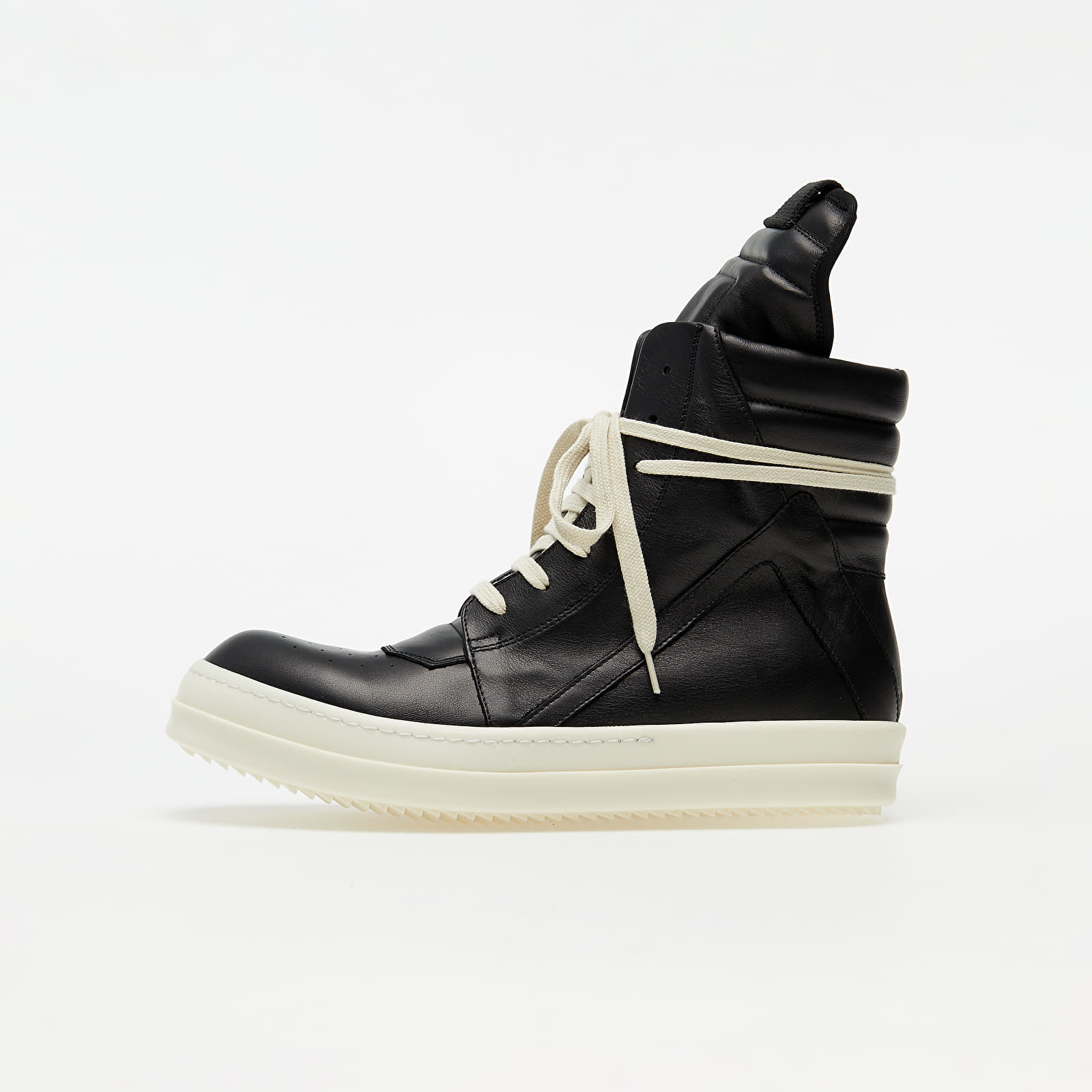 Férfi cipők Rick Owens Geobasket Black/ Black/ White