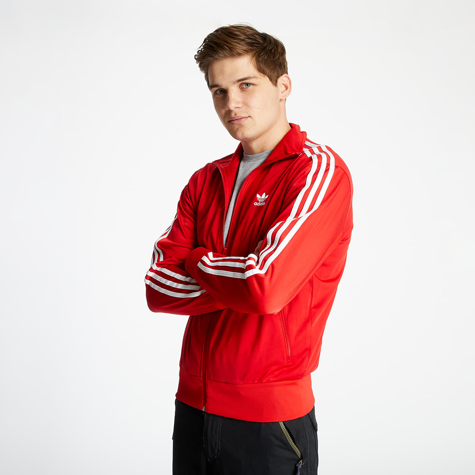 Bluzy i swetry adidas Firebird Track Top Scarlet/ White