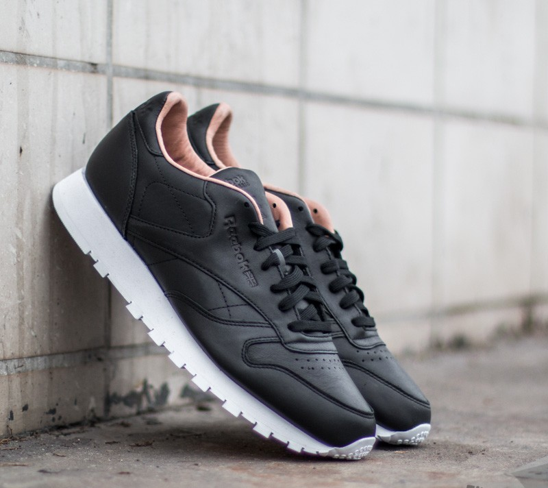Reebok Classic Leather PN Black White  a39bd8510