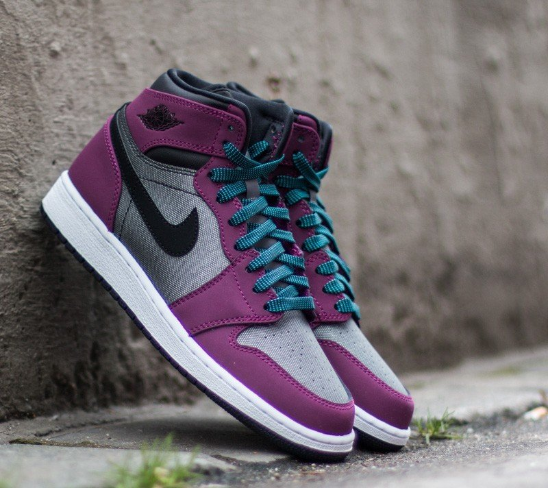 in stock 8cd0f 50701 Air Jordan 1 Retro High (GG) Mulberry/ Blue Lagoon-Dark Grey-Black ...