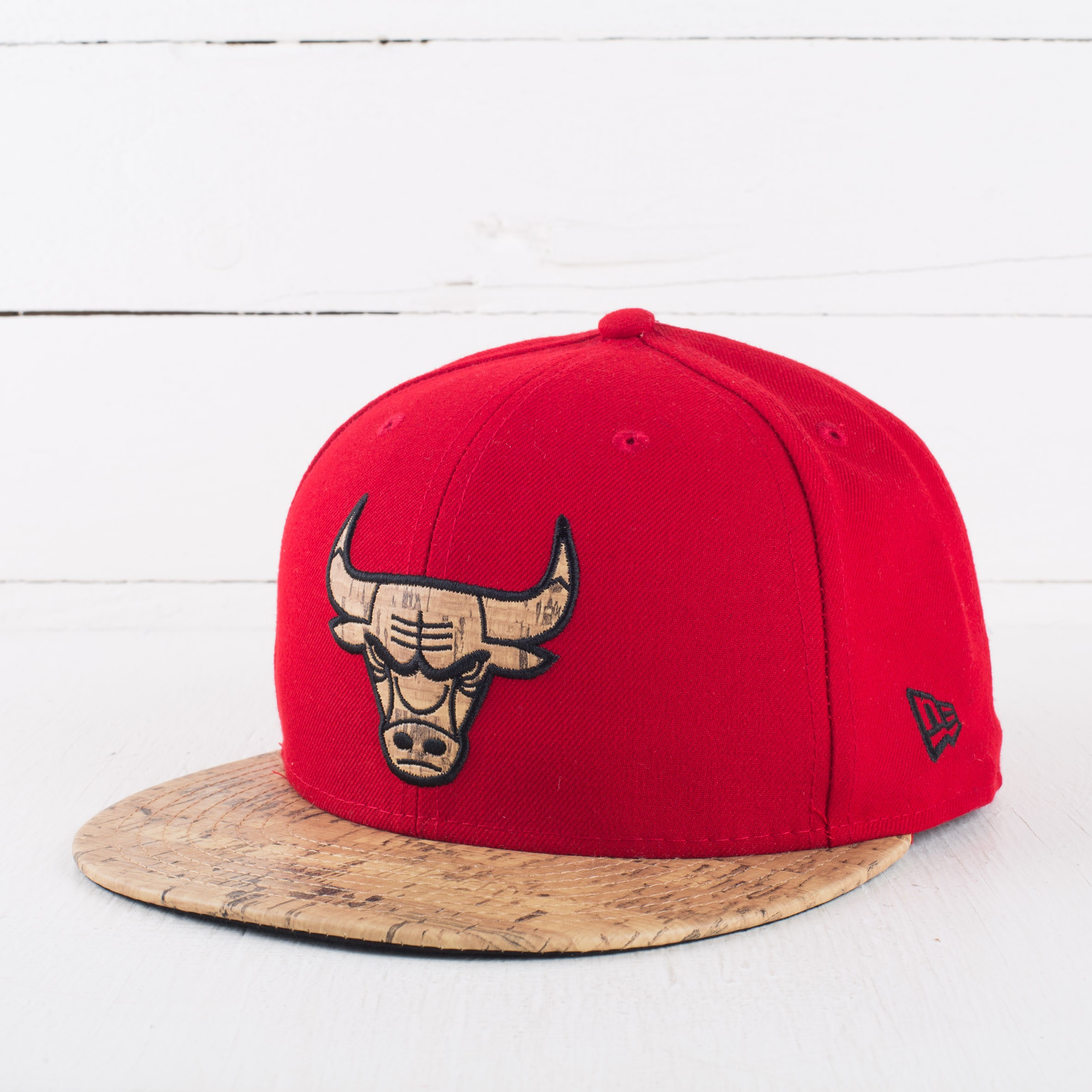 New Era 59FIFTY Fitted Cork Chicago Bulls Red  bb787ded69f