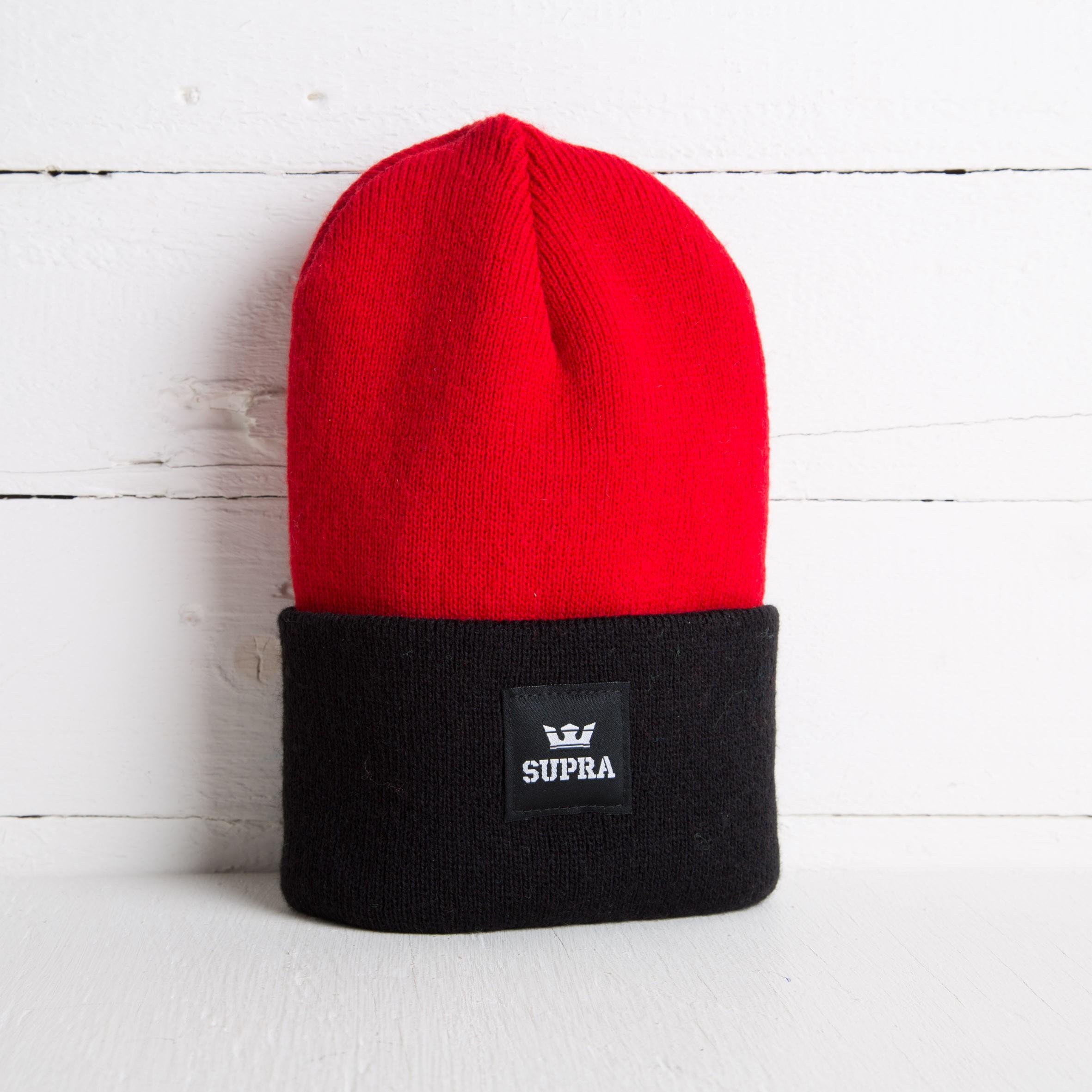Supra Watts Beanie Red  Black  86200dec8146