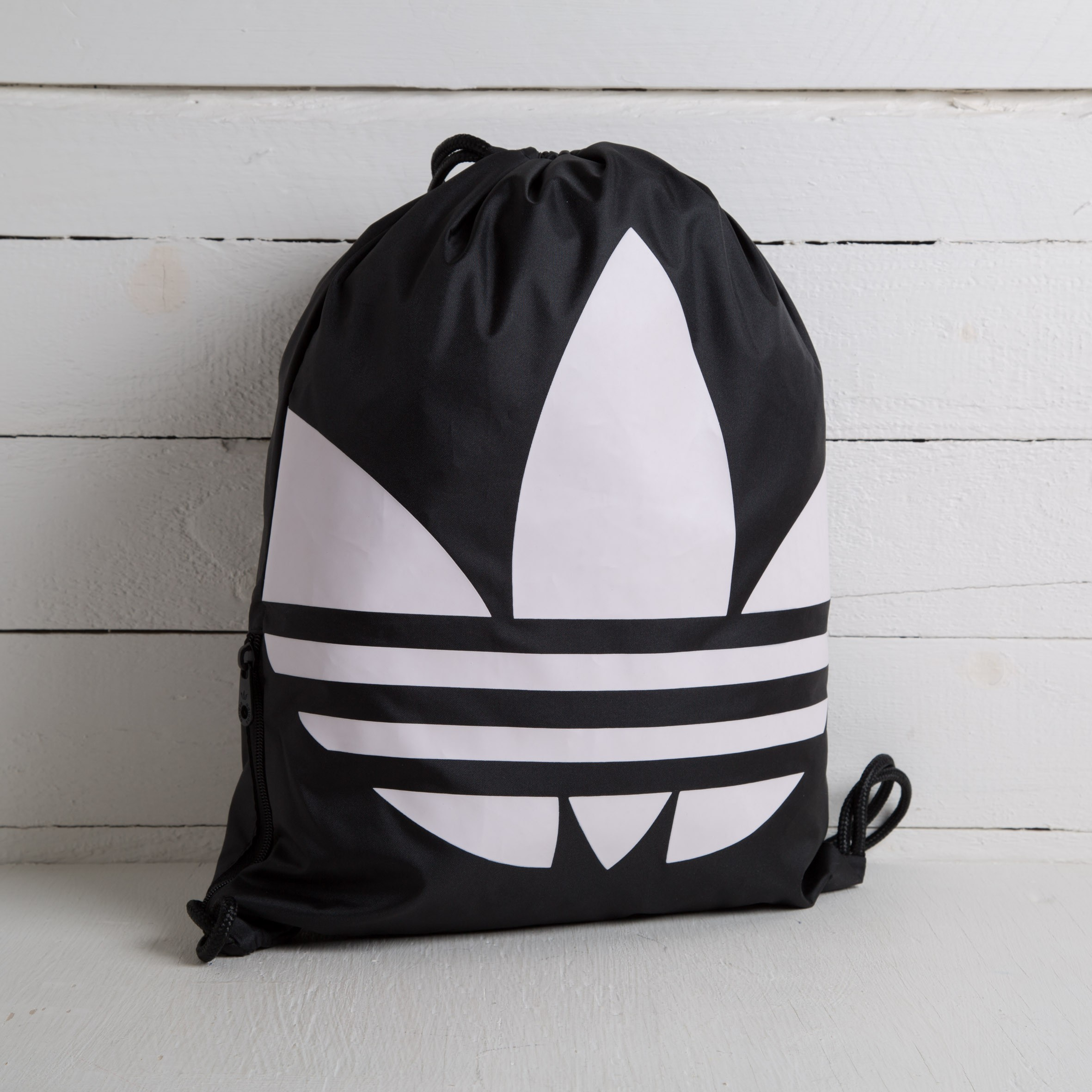 57d233ddd8bc adidas Gymsack Trefoil Black  White