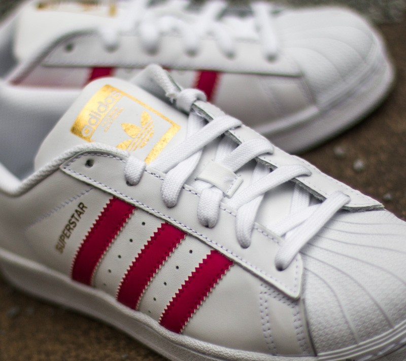 adidas Superstar Foundation J Ftw White Bo Pink Ftw White
