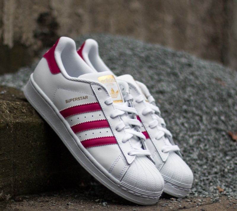 adidas Superstar Foundation J Ftw White  Bo Pink  Ftw White  894567b967378