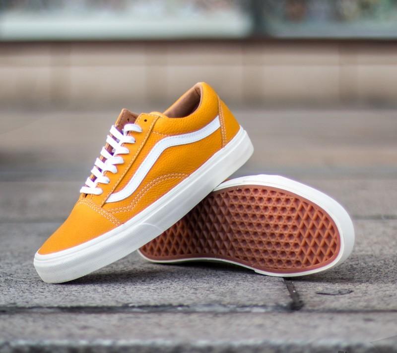 Vans Old Skool Reissue Classic Leather Yellow | Footshop
