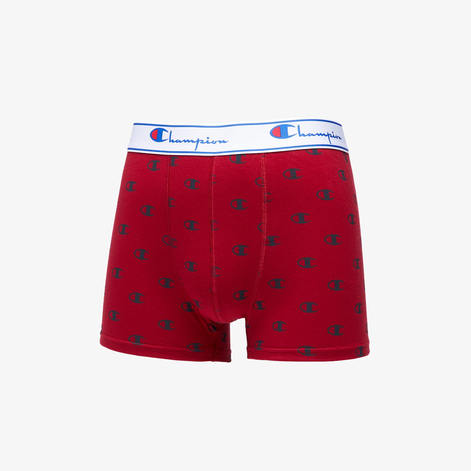 Sous-vêtements pour hommes Champion 2Pack Boxers Red/ Black