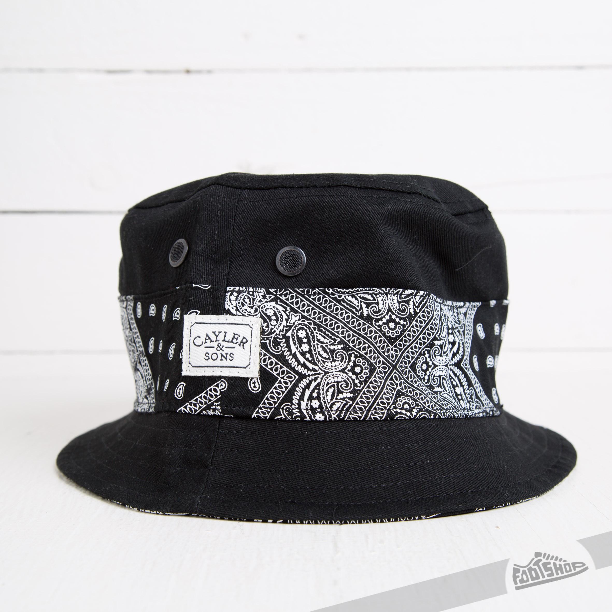 38617a24074 Cayler   Sons Bandana Bucket Hat Black Paisley