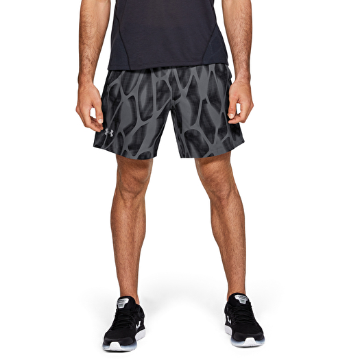 Black Under Armour Launch SW 7 Inch Printed Mens Running Shorts