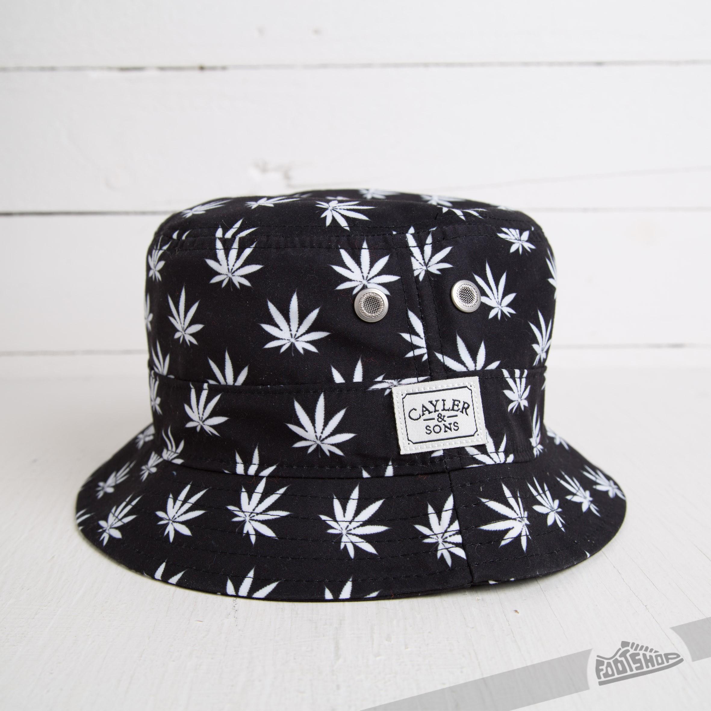 fbefad111ea Cayler   Sons Budz n Stripes Bucket Hat Black White