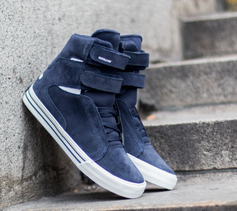 shoes Supra Society II Blue Nights-White