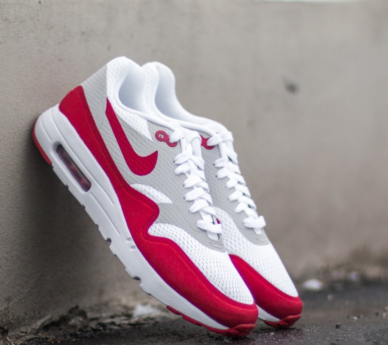 Productos lácteos dividir Decorar  Men's shoes Nike Air Max 1 Ultra Essential OG Pack White/ University Red-Natural  Grey-White | Footshop