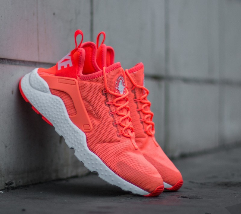 7a7f4633a3046 Nike Wmns Air Huarache Run Ultra Neon Bright Mango  White ...