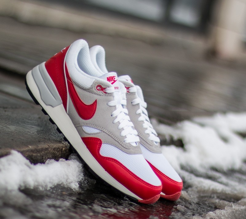 131ce4a2f80e Nike Air Odyssey White  University Red-Natural Grey