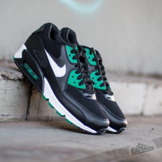 Nike Air Max 90 Essential Black White Lucid Green | Footshop