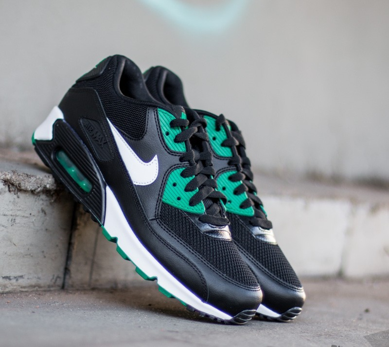 Nike Air Max 90 Essential Black  White- Lucid Green  aa7392f66dc8