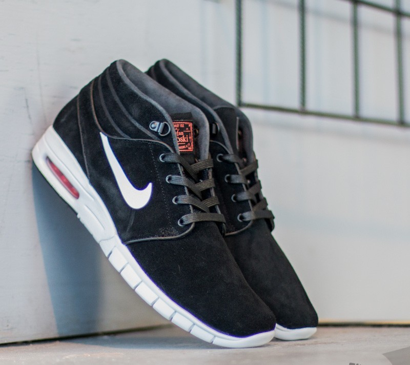 b22c18cb56984d Nike Stefan Janoski Max Mid L Black  White-University Red