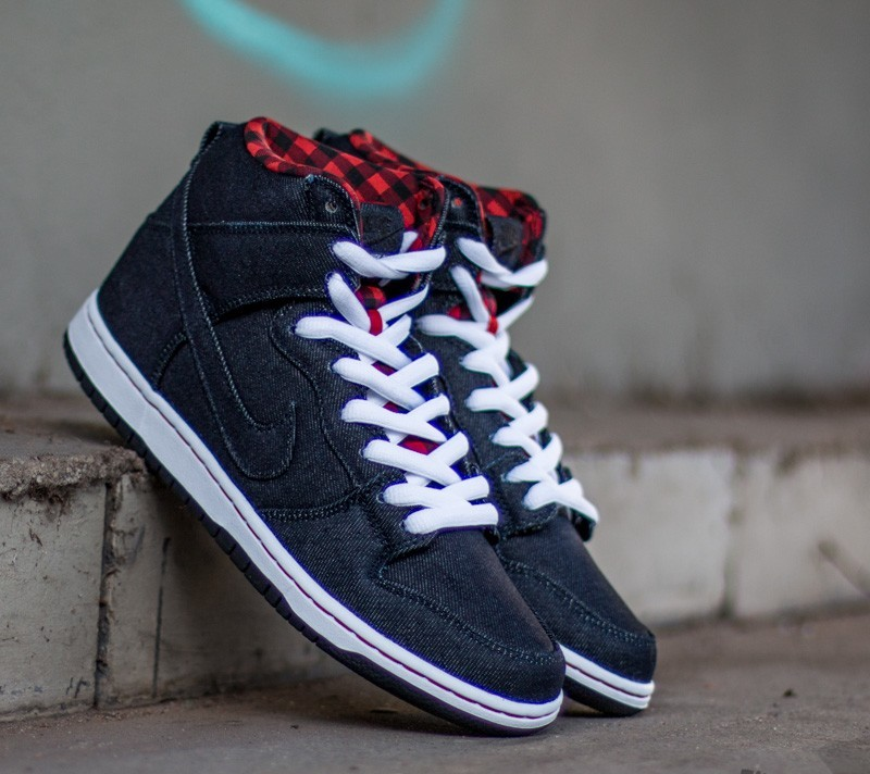 new style f42a5 55985 Nike Dunk High Premium SB Dark Obsidian Dark Obsidian- White