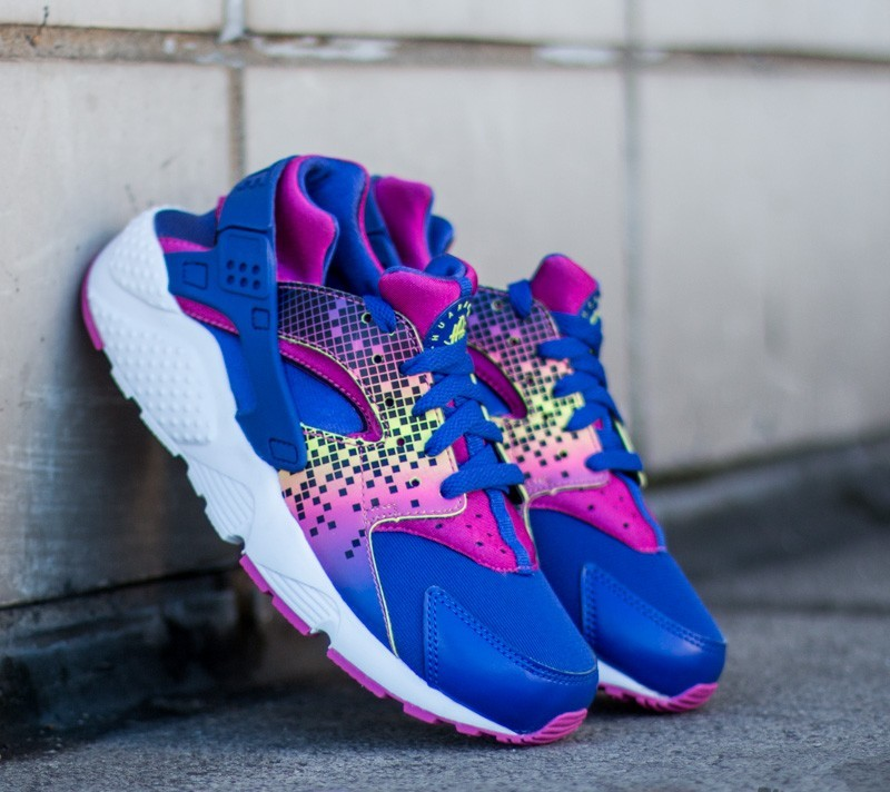 720fad08bb1c Nike Huarache Run Print GS Purple  Fresh Pink