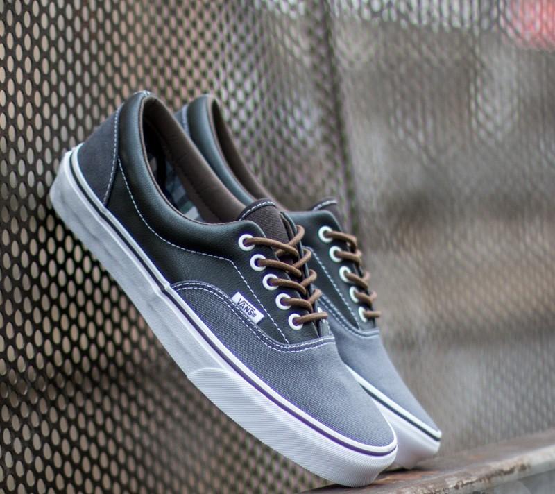 8d43b327d7d0 Vans Era Leather Plaid Asphalt  Beluga
