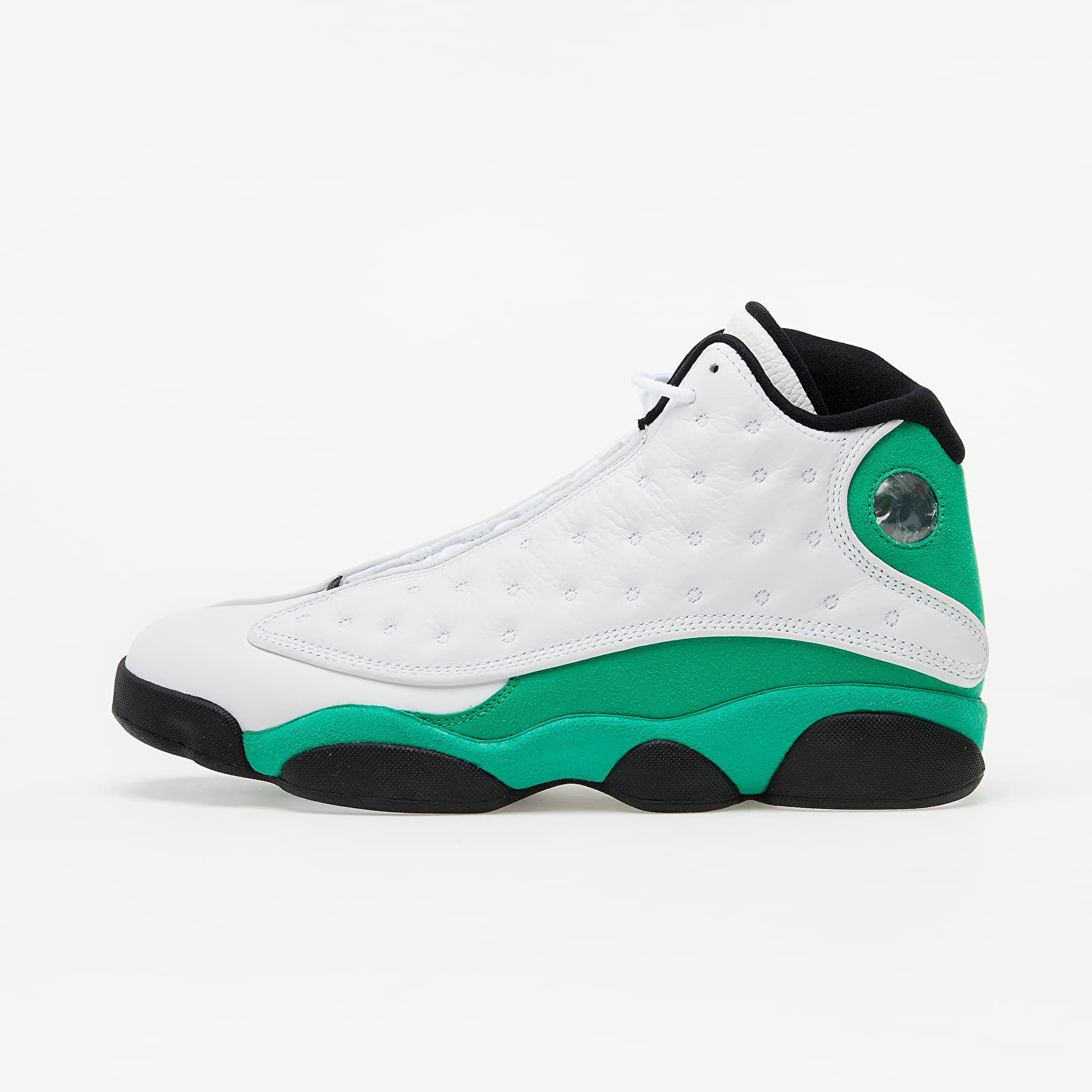 Zapatillas Hombre Air Jordan 13 Retro White/ Lucky Green-Black