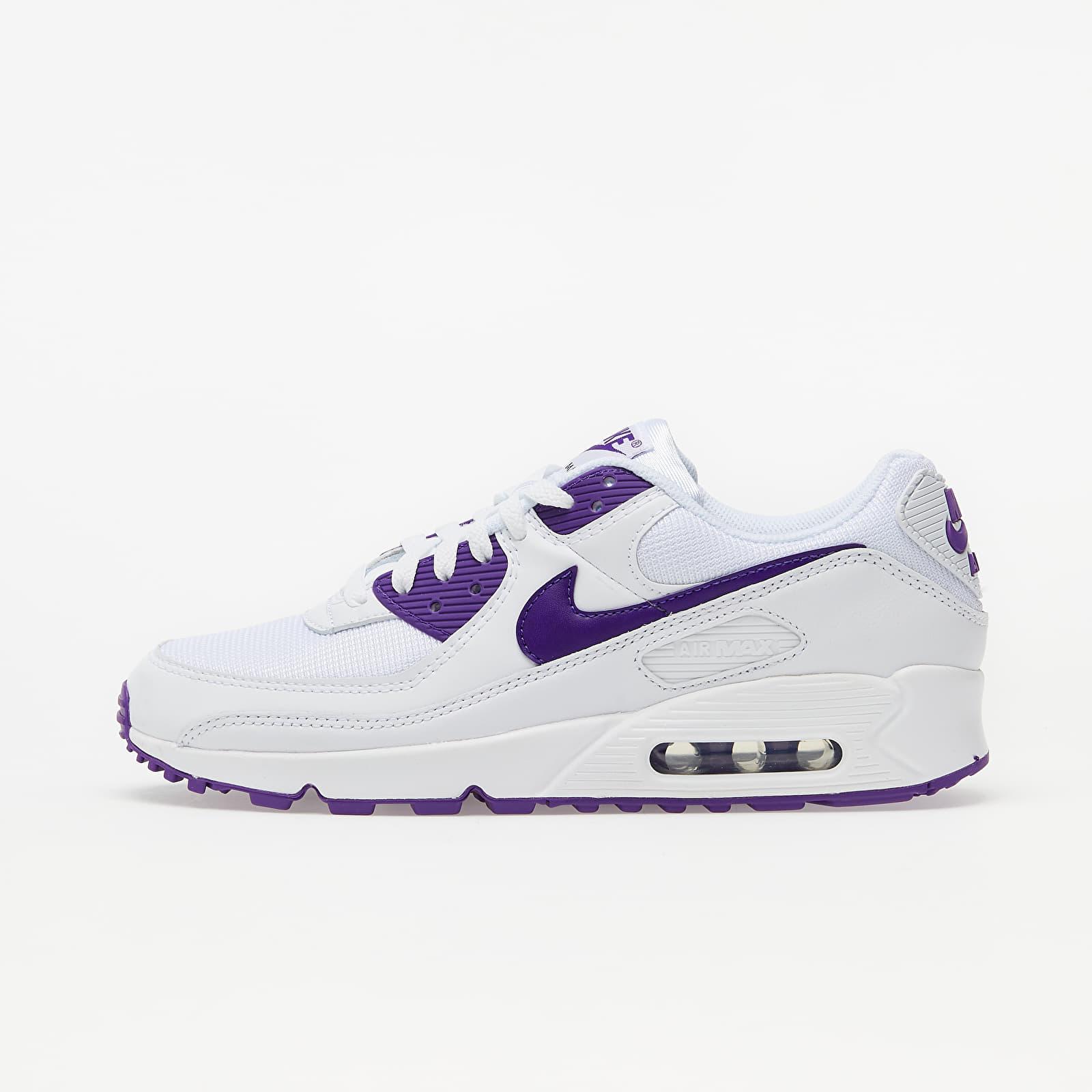 Nike Air Max 90 White/ Voltage Purple-Black | Footshop