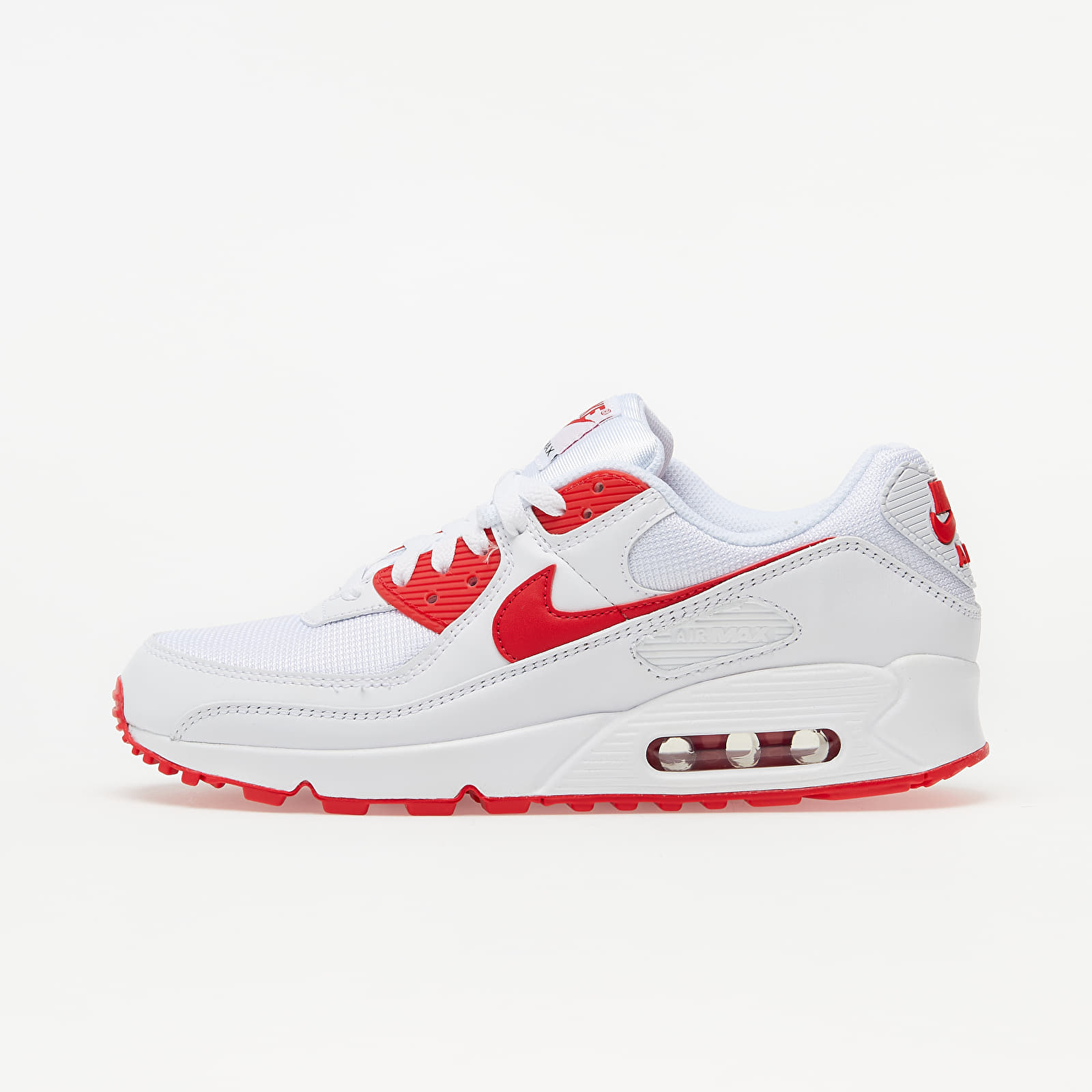 Nike Air Max 90 White/ Hyper Red-Black EUR 45